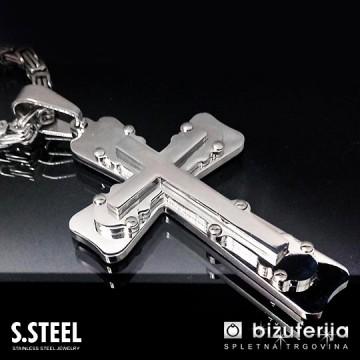 PRIEST Moška verižica križ z obeskom 500 x 75 x 45 mm CO-222