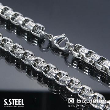 QUATTRO CONECTION Moška srebrna verižica iz nerjavečega jekla 5 x 600 mm O-223