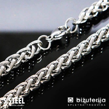 SCORPIO Moška srebrna verižica iz kirurškega jekla 6 x 500 mm O-624