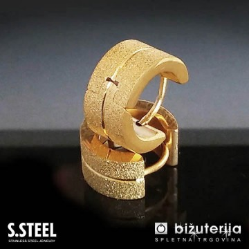 Zlati moški uhani iz jekla U-159