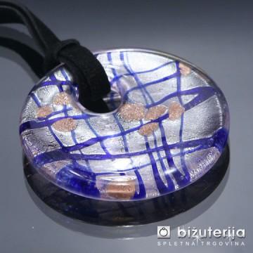 DIANA VIOLETTE - Murano obesek iz barvnega stekla OS-111