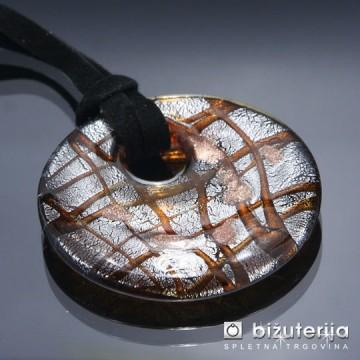 DIANA BROWN - Murano obesek iz barvnega stekla OS-114