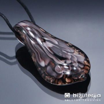 FLOWER - Murano obesek iz barvnega stekla OS-117