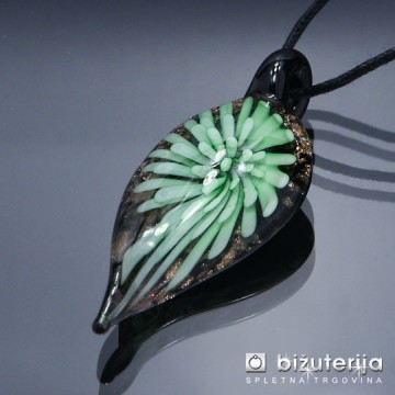 CRISTINA GREEN - Murano obesek iz barvnega stekla OS-126