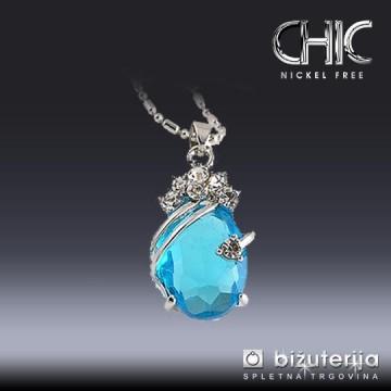 BLUE DROP Ženska verižica z obeskom V-305